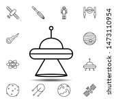 alien  space  ufo icon. simple...