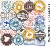 santiago de compostela spain... | Shutterstock .eps vector #1473123581
