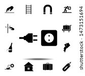 electrical plug icon. simple...