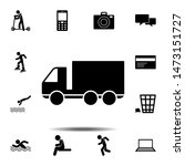 car truck icon. simple glyph ...