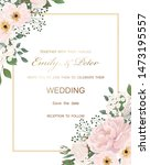 wedding invitation with flowers ...   Shutterstock .eps vector #1473195557