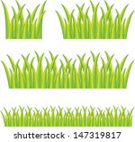 set of bright green grass | Shutterstock .eps vector #147319817