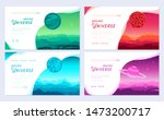 set of colorful covers with...