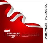 singapore independence day... | Shutterstock .eps vector #1473207227