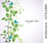 card design with birds on the...   Shutterstock . vector #147321884