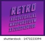 retro gradient font alphabet...   Shutterstock .eps vector #1473223394