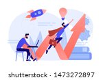 businessman working and flying... | Shutterstock .eps vector #1473272897