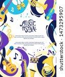 music festival hand lettering... | Shutterstock .eps vector #1473295907