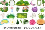 set of different tropical...   Shutterstock .eps vector #1473297164