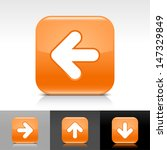 arrow icon set. orange color...
