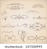 vector set  calligraphic... | Shutterstock .eps vector #147330995