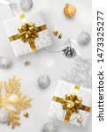 christmas background. festive... | Shutterstock .eps vector #1473325277