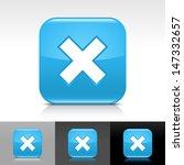 delete icon set. blue color...