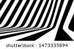 Abstract 3d Illusion Black And...