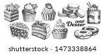 assortment baked sweet dessert...   Shutterstock . vector #1473338864