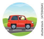 suv vehicle riding on the... | Shutterstock .eps vector #1473342641