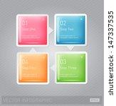 vector 3d plastic glossy... | Shutterstock .eps vector #147337535
