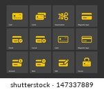 credit card icons on gray...