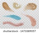 skin foundation smears  dry... | Shutterstock .eps vector #1473389057