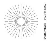sunburst sun ray vector ... | Shutterstock .eps vector #1473411857