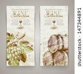 vintage vector vertical banners ... | Shutterstock .eps vector #147344891