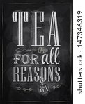 Poster Tea For All Reasons In...