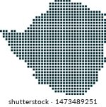 zimbabwe map dotted style....