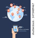 social network global... | Shutterstock .eps vector #1473489467