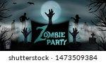 invitation template halloween...   Shutterstock .eps vector #1473509384