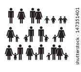 family icons set | Shutterstock .eps vector #147351401