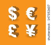 3d currencies symbols  dollar ... | Shutterstock .eps vector #147352607