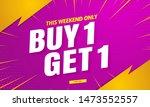 buy get free sale banenr... | Shutterstock .eps vector #1473552557