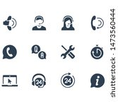 service set phone call icon | Shutterstock .eps vector #1473560444