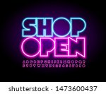 vector bright sign shop open... | Shutterstock .eps vector #1473600437