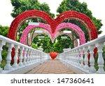 Flowers Heart Shape Door