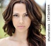 beautiful young woman face... | Shutterstock . vector #147364844
