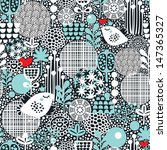 cute seamless pattern with snow ... | Shutterstock . vector #147365327