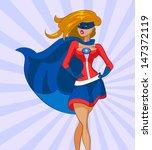 woman super hero. vector... | Shutterstock .eps vector #147372119
