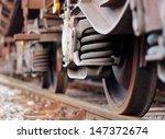wheels of train  | Shutterstock . vector #147372674