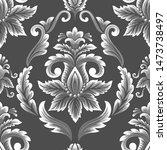 vector damask seamless pattern... | Shutterstock .eps vector #1473738497