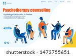 group therapy session ... | Shutterstock .eps vector #1473755651