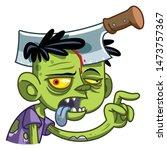 funny little zombie. zombie...   Shutterstock .eps vector #1473757367