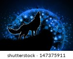 Moon Blue Wolf