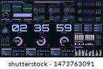 hud futuristic time monitor...