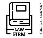 law firm icon. outline law firm ... | Shutterstock .eps vector #1473772877