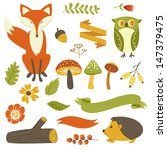 acorn,animal,autumn,banner,berry,branch,cartoon,cute,design,drawing,ecology,fall,fir,floral,foliage