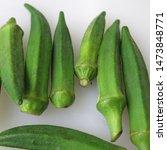 Fresh Green Okra Or Lady's...