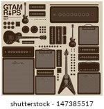 Vintage Vector Guitar Set And...