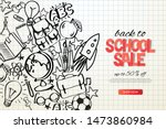 back to school sale template.... | Shutterstock .eps vector #1473860984