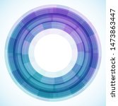 geometric frame from circles ... | Shutterstock .eps vector #1473863447
